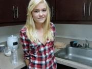 Skinny Blonde Teen POV Homemade Sex